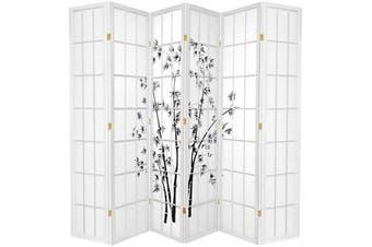 Zen Garden Room Divider Screen White 6 Panel