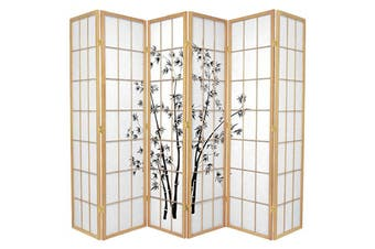 Zen Garden Room Divider Screen Natural 6 Panel
