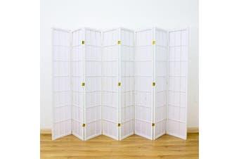 Shoji Room Divider Screen White 8 Panel