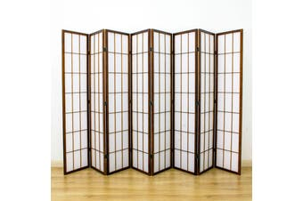Shoji Room Divider Screen Brown 8 Panel