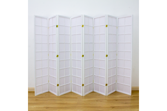 Zen Room Divider Screen White 8 Panel