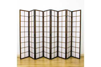 Zen Room Divider Screen Brown 8 Panel
