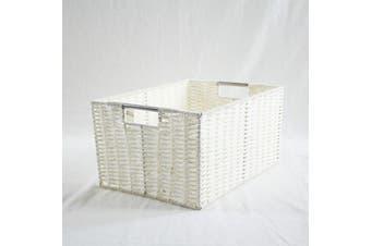 Chattel Storage Basket White Medium