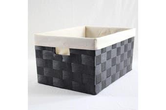 Linear Storage Basket Black Medium
