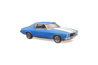 Classic Carlectables 1/18 Holden HQ GTS Monaro Azure Blue With White Stripes