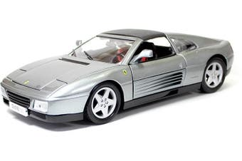 BBURAGO 1/18 Ferrari 348ts Silver Diecast Model