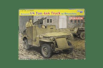 Dragon 1/35 Armored 1/4 Ton 4x4 Truck w/Bazookas Kit