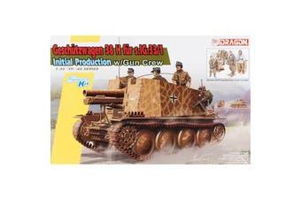 Dragon 1/35 Geschutzwagen 38 H fur s.IG.33/1 Initial Production w/Gun Crew Kit