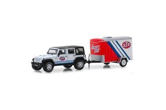 Greenlight 1/64 2015 Jeep Wrangler Unlimited & Small Cargo Trailer