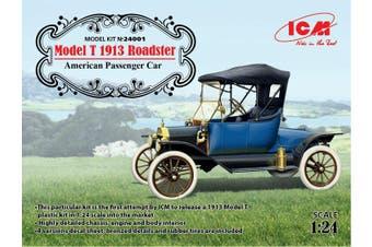 ICM 1/24 Model T 1913 Roadster American Passenger Car Kit ICM-24001