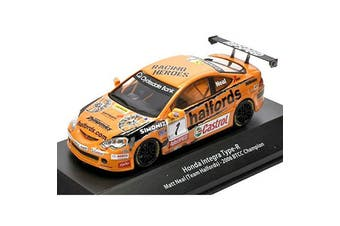 Atlas 1/43 Honda Integra Type-R 2006 BTCC Champion - Matt Neal (Team Halfords)