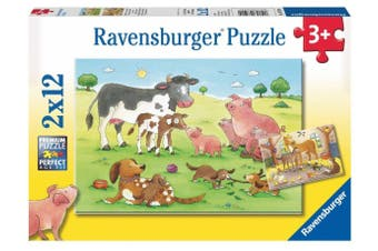 Happy Animal Families by Carolin Gortler 2x12pc Puzzle