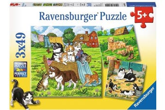 Cats & Dogs by Caryad 3x49pcs Puzzle