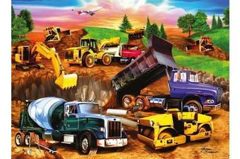 Construction Crowd by Michael Searle 60pcs Puzzle
