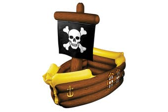 Pirate Ship Treasure Beach Party Costume Inflatable Beer Drinks Ice Cooler