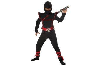 Stealth Ninja Assassin Japanese Warrior Black Red Book Week Boys Costume