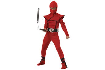 Stealth Ninja Japanese Warrior Red GI Joe Mortal Kombat Karate Boys Costume