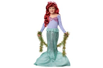 Little Mermaid Princess Ariel Fairytale Story Book Week Dress Up Girl Costume