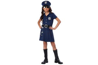 Police Officer Cop Uniform Policewoman Role Play Book Week Girls Costume