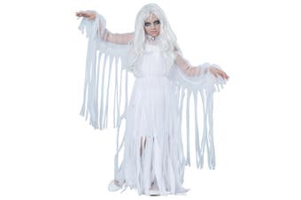 Ghostly Girl Ghost Spirit Soul Haunt Phantom Halloween Dress Up Girls Costume