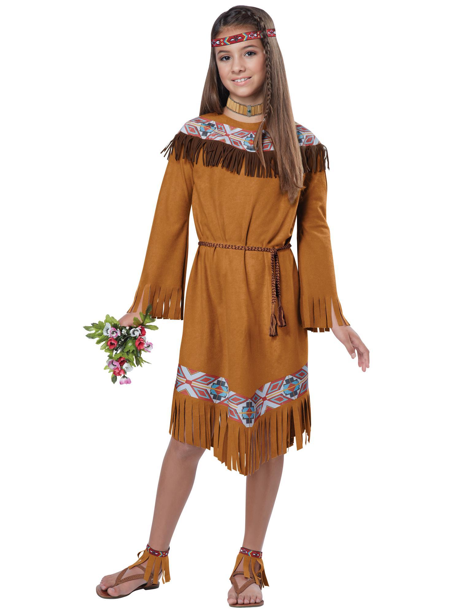 Classic Indian Pocahontas Native American Western Book Week Girls Costume