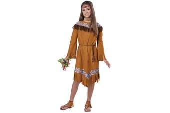 Classic Indian Pocahontas Native American Western Book Week Girls Costume