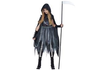Reaper Girl Grim Death Ghost Horror Ghoul Halloween Book Week Girls Costume