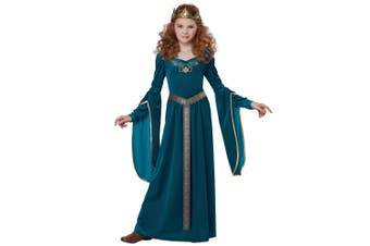 Medieval Princess Lady Guinevere Renaissance Blue Game of Thrones Girls Costume