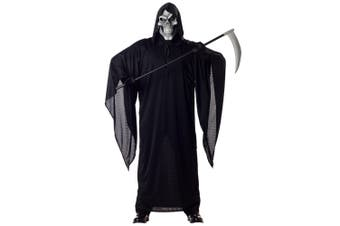 Grim Reaper Horror Robe Death Halloween Skeleton Men Costume