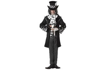 Dark Mad Hatter Wonka Alice In Wonderland Men Costume