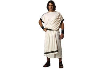 Deluxe Classic Toga Julius Caesar Greek Roman Ancient Mens Costume One Size