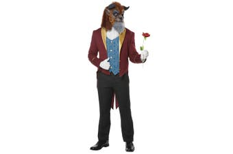 Storybook Prince Beauty and the Beast Fairy Tale Story Book Week Mens Costume