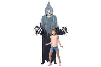 Towering Terror Grim Reaper Giant Skeleton Halloween Decoration Mens Costume