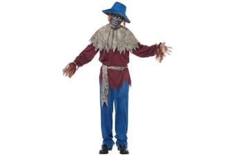 Scarecrow Horror Creepy Monster Evil Wicked Halloween Adult Mens Costume