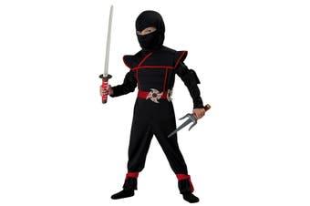 Stealth Ninja Japanese Warrior Black Assassin Book Week Toddler Boys Costume