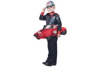 Speedway Champion Car Racer Sport Book Week Toddler Boys Costume 3-6