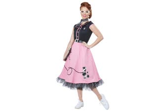 50s Sweetheart 1950s High School Rock N Roll Poodle Grease Womens Costume