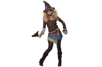 Creepy Scarecrow Deluxe Monster Horror Scary Evil Halloween Womens Costume