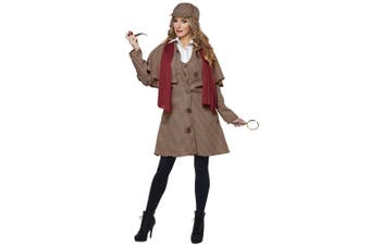 Lady Sherlock English Detective Holmes Private Inspector TV Movie Womens Costume
