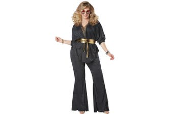 Disco Dazzler 1970s 80s Retro Dancing Queen Hippie Hippy Womens Costume Plus