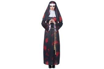 Sinister Sister Horor Nun Mary Ghost Spirit Religious Halloween Womens Costume