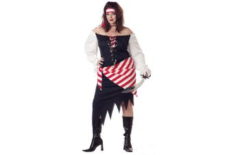 Ruby the Pirate Beauty Buccaneer Swashbuckler Adult Womens Costume Plus Size