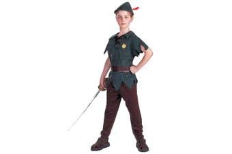Peter Pan Classic Neverland Lost Boys Disney Story Book Boys Costume S 4 - 6