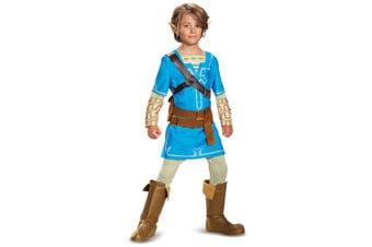 Link Breath Of The Wild Deluxe Zelda Nintendo Video Game Child Boys Costume