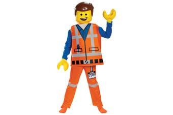 Emmet Brickowski Deluxe The Lego 2 Movie Minifigure Book Week Boys Costume
