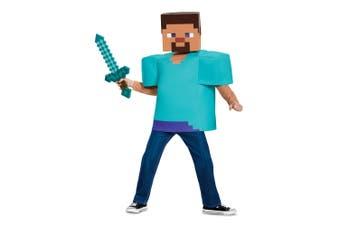 Steve Mojan Minecraft Player Video Game Fancy Dress Up Boys Costume