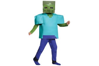 Zombie Mojang Minecraft Mob Player Video Game Fancy Dress Up Boys Costume