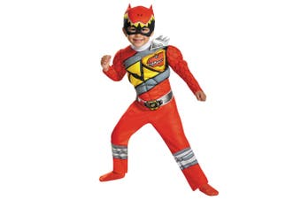 Red Ranger Deluxe Muscle Power Rangers Dino Charge Superhero Boys Costume S