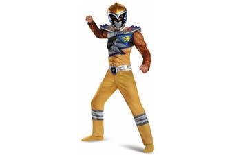 Gold Ranger Muscle Power Rangers Dino Charge Superhero Boys Costume