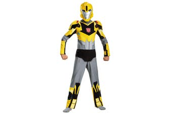 Bumblebee Transformers Animated Autobot Robots Goldback Superhero Boys Costume